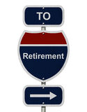 Retirement this way Royalty Free Stock Images