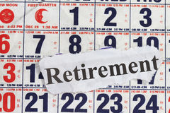 Retirement word Stock Images