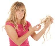 Retirez le handfull de cheveu Photos stock
