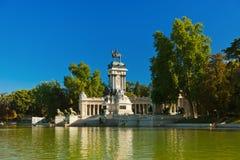 Retiro公园在马德里西班牙 免版税库存图片