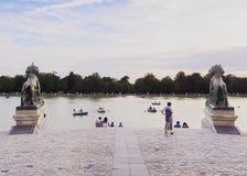 retiro парка madrid Стоковая Фотография RF
