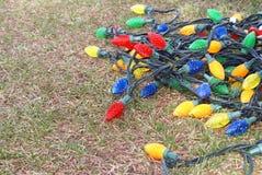Retiro de las luces de la Navidad Imagen de archivo libre de regalías