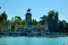 Retiro lake Royalty Free Stock Photo