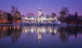 Retiro Madrid, Spanien Arkivfoto