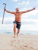 Retiro mayor sano Fotografía de archivo