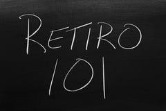 Retiro 101 Na Blackboard Przekład: Emerytura 101 Fotografia Royalty Free