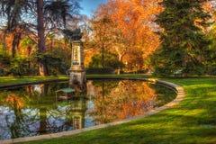 Retiro park. Autumn in Madrid Retiro park Stock Images