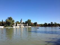 Retiro Park. Clear day in the park in Madrid Royalty Free Stock Photos