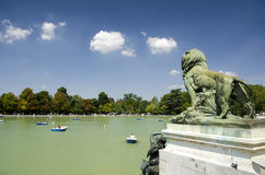 Retiro Park Lake, Madrid Royalty Free Stock Image