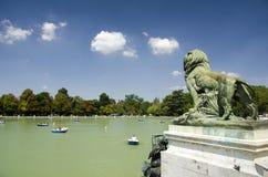 Retiro Park Lake, Madrid Royalty Free Stock Image