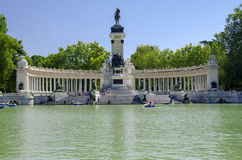 Retiro Park Lake, Madrid Royalty Free Stock Photos