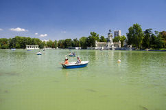 Retiro Park Lake, Madrid Stock Photo