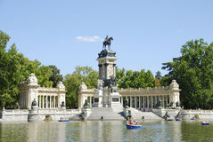 Retiro Park in Madrid Stock Images