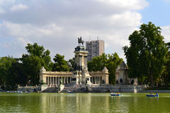 Retiro Park in Madrid Royalty Free Stock Images