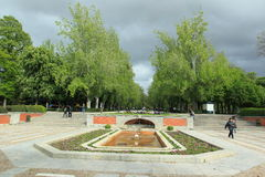 Retiro park in Madrid. The entrance y to Retire Park in Madrid, Spain Stock Photos