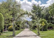 Retiro Park in Madrid Stockfotos