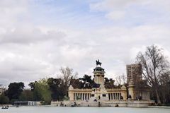 Retiro park in Madrid Royalty Free Stock Image