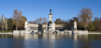 Retiro Park Madrid Near Sunset Stock Image