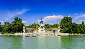 Retiro park in Madrid Royalty Free Stock Images