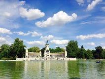 Retiro-Park Madrid Spanien Stockbilder