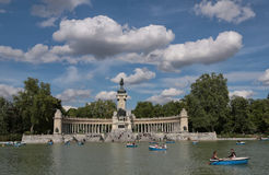 Retiro park in madrid Royalty Free Stock Photography