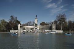 Retiro park pomnikowy Alfonso XII Zdjęcie Royalty Free