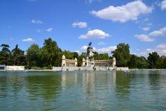 Retiro's Park Lake. In Madrid, Spain Stock Images