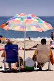 Retiro: Un día en la playa Imagenes de archivo