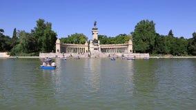 Retiropark in Madrid, Europa stock videobeelden