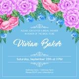 Reto bridal shower invitation Royalty Free Stock Photography
