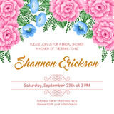 Reto bridal shower invitation Stock Image