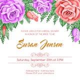 Reto bridal shower invitation Royalty Free Stock Photos