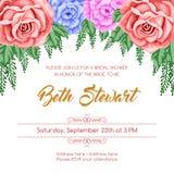 Reto bridal shower invitation Stock Images