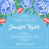 Reto bridal shower invitation Stock Photos