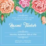 Reto bridal shower invitation Stock Photo