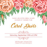 Reto bridal shower invitation Royalty Free Stock Image