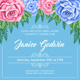 Reto bridal shower invitation Stock Photography