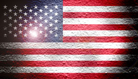 Reto national flag of Unites States Stock Image