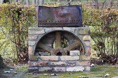 Reto vintage barbecue brazier Royalty Free Stock Photo