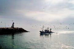 Retorno de barcos de pesca no porto de Lagos Portugal Foto de Stock