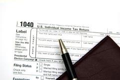 Retorno de imposto Imagens de Stock Royalty Free