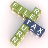 Retorno de imposto 2 do arquivo ilustração stock