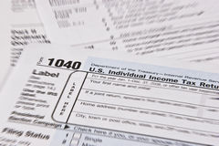 Retorno de imposto da renda fotos de stock