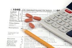 Retorno de imposto dos EUA Fotografia de Stock