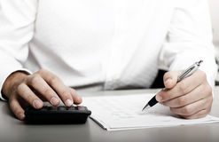 Retorno de imposto financeiro fotografia de stock