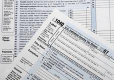 Retornos de imposto Fotografia de Stock
