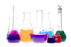 Retortas químicas Fotografia de Stock Royalty Free