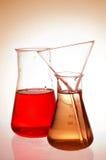 Retortas químicas imagens de stock