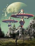Retour après apocalypse illustration de vecteur
