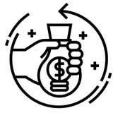 Retour de illustration au trait investissement illustration libre de droits